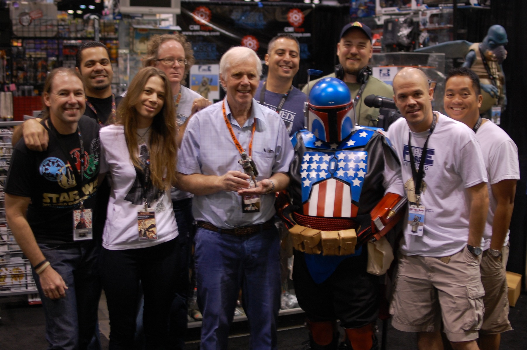 CMI Crew at Star Wars Celebration with Jeremy Bulloch